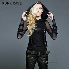 Emo Gothic Steampunk Punk Top Shirt Hoody 36 38 40 42