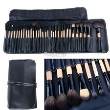 Professional 32PCS Makeup Cosmetic Eyebrow Eye Liner Brush Set Kit + Pouch W3LE