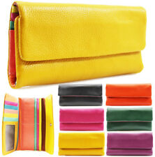 Fashion Ladies Soft Real Leather Bifold Long Coin Purse Womens Wallet Card Holde