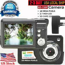 New HD 720P 18MP CMOS 2.7'' TFT LCD Screen Digital Camera EU Plug Fast Shipping