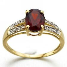 Best Gift For Women Fashion Size 6,7,8,9 Red Garnet 18K Gold Filled Wedding Ring