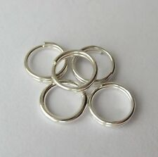 6 mm 22 GA Solid Sterling Silver 925 Round Split Jump Ring 5 - 100 pc