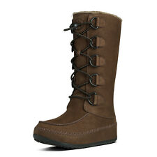 Fitflop 456-167 Tall Mukluk Moc 2 Warm Winter Boots [ Chocolate Brown ]