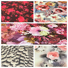 "Floral Printed Scuba Jersey stretch dress fabric 58"" wide M671 Mtex"