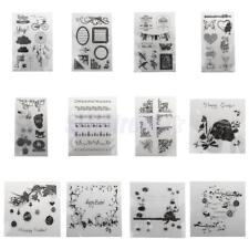 Decor Transparent Silicone Clear Rubber Stamp Seal Sheet Cling Scrapbooking DIY