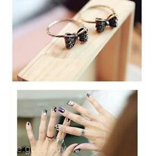 Fashion Jewellery Lovely Sweet Rhinestone Crystal Bowknot Bow Tie Finger Ring