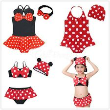 Kids Baby Girls Minnie Tankini Bikini Suit Swimsuit Swimwear Swimming Clothes