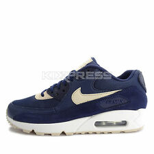 Nike WMNS Air Max 90 [325213-410] NSW Running Binary Blue/Oatmeal-White