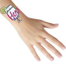 Personalised Temporary Hen Night Tattoos - Add Any Name/Text - Pack of 1, 6, 12