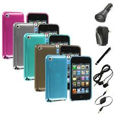 TPU Plain Rubber Jelly Skin Case Cover+Accessories for iPod Touch 4th Gen 4G 4