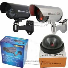 1X2X4X8X Dome/Bullet IR Blinking Flashing  LED Fake Dummy Security CCTV Camera