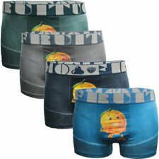 Fashion Mens 4 Pack Boxer Shorts Trunks Gift Underwear Cotton Boys Boxers New UK