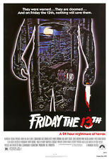 Friday the 13th Movie Poster Print - 1980 - Horror - One (1) Sheet Artwork