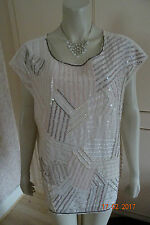 SAVOIR ALL OVER SEQUIN SPECIAL OCCAS TOP SIZE 12 16, 18, 20,22 & RRP £55