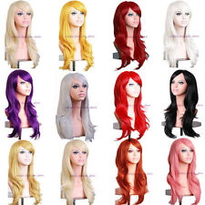 Fashion Women Full Hair Wig Curly Wavy Long Wig Cosplay Party Daily Dress Red #t