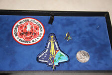 NASA Lot of 4 Space Shuttle Columbia Mission STS 107 Items Patches, Coin & Pin