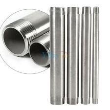 """1/4""""-1"""" 304 Stainless Steel Male x Male Threaded Pipe Fittings 200mm BSP Newest"""