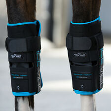 Horseware ICE VIBE KNEE CIrculation Therapy Vibrating Cooling Boots / Wraps PAIR