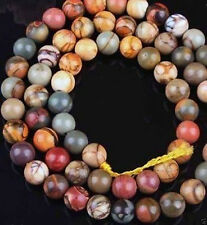 6-10mm Picasso Jasper Round Loose Beads 15""