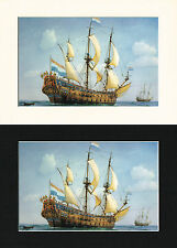 De Zeven Provincien Ship/Nautical/Maritime Print Cornelis de Vries A4 Bl/Cr/Wh
