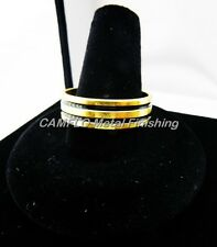 24K Gold Plated Men 2 Line Stripes Band Ring