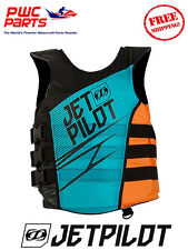 JETPILOT MATRIX Side-Entry Life Jacket Vest USCG Appv Blue Orange SeaDoo JP17213