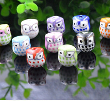 wholesale 8pcs Diy accessories 15 x16mm animal owl ceramic bead Loose bead