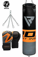 RDX 4ft/5ft Punching Bag Chains Boxing Gloves Punch Stand Target Gym Training AU