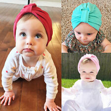 NEW Baby Kids Boys Girls Cotton Bohemian Knot Beanie Cap Hat 1-6Y
