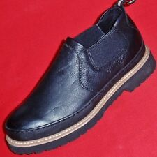 Men's CHINOOK WORKHORSE ROMEO Black Leather Loafers Slip on Work Shoes/Boots New