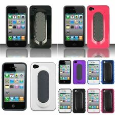 Stylish Snap Tail Hard Plastic Cover Case w/ Stand For Apple iPhone 4/4s