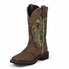 Justin Boots Justin Ladies Gypsy Square Toe 12in Camo Boot