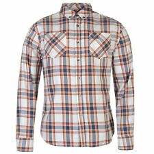 Lee Cooper Mens Gents Harlington Check Shirt Long Sleeve Button Front Clothing