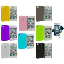 0.3mm Super Ultra Thin Hard Frost Case Cover+Windshield Mount for iPhone 4 4G 4S