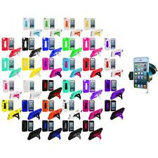 For Apple iPhone 5 5G Hybrid Heavy Duty Hard/Soft Case Cover Stand+Car Mount