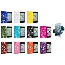 For Apple iPhone 5C Color Birds Nest Slim Hard Snap-On Case Cover+Car Mount