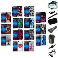 Design Hard Snap-On Rubberized Case Cover+8X Accessory for Blackberry Z10 Phone
