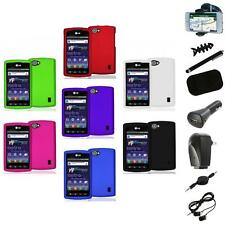Color Hard Snap-On Skin Case Cover+8X Accessory for LG Optimus M+ Plus MS695