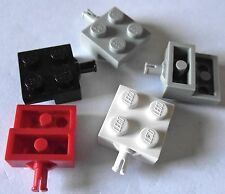 LEGO 2x2 modified plate + single wheel holder x 12 Part 4488 Choose your colour