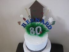 garden shed cake topper, gardening ,   made with your choice of name and age