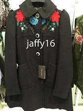 ZARA WOOL COAT WITH AN EMBROIDERED YOKE SIZE: XS REF. 7640/744