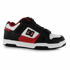 DC Stag Skate Shoes Mens Black/White/Red Casual Trainers Sneakers