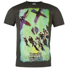 Suicide Squad XX Face T-Shirt Mens Charcoal Top Tee Shirt