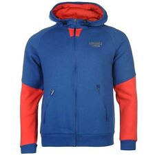 Lonsdale Sport Full Zip Hoody Mens Blue Hoodie Jacket Sweatshirt Top Sportswear