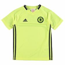 Adidas Chelsea FC Training Jersey Juniors Yellow/Black Football Soccer Top Shirt