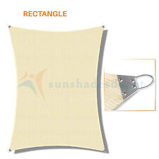 Sun Shade Sail Steel Wire Reinforced Edge Heavy Duty Canopy Awning Pool UV Block