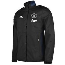 Adidas Manchester United Travel Jacket Mens Blk/Nvy/Wht Football Soccer Coat Top