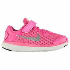 Nike Flex 2016 Run Trainers Junior Girls Pink/Silver Sports Shoes Sneakers