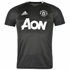 Adidas Manchester United FC Training Jersey Mens Black/White Football Soccer Top