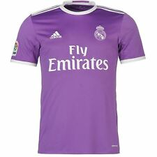 Adidas Real Madrid Away Jersey 2016 2017 Mens Purple Football Soccer Top Shirt